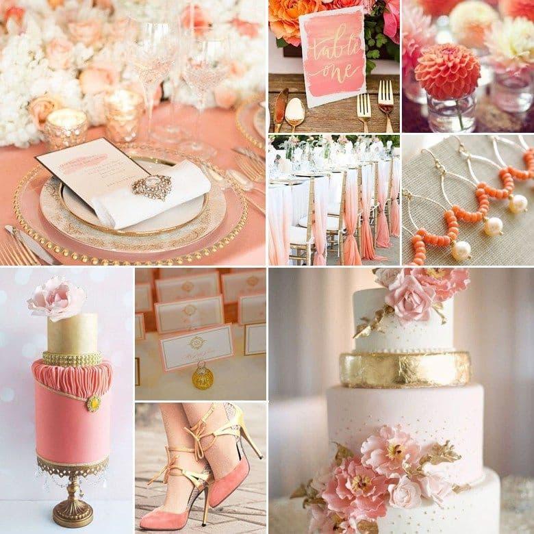 Riverside Palace gợi ý gam màu cưới cam san hô cho đám cưới mùa hè rực rỡ