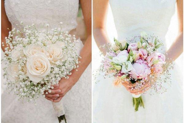 Tổ chức tiệc cưới theo phong cách nhẹ nhàng với hoa Baby