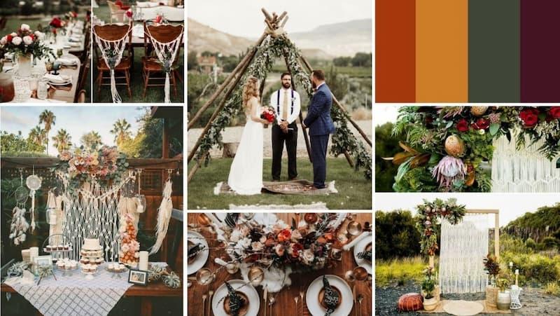 Gợi ý 7 tưởng cho tiệc cưới ngoài trời mang phong cách Bohemian phóng khoáng