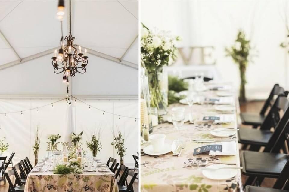 Trang trí tiệc cưới mùa xuân tại địa điểm tổ chức sự kiện